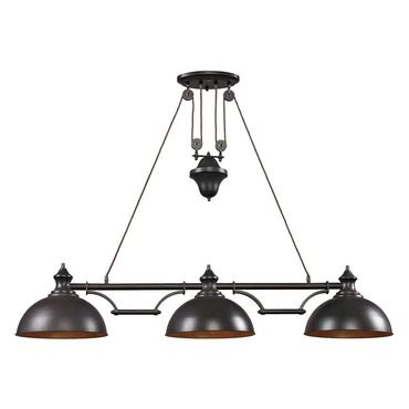 Farmhouse linear pendant light elk lighting at lightology