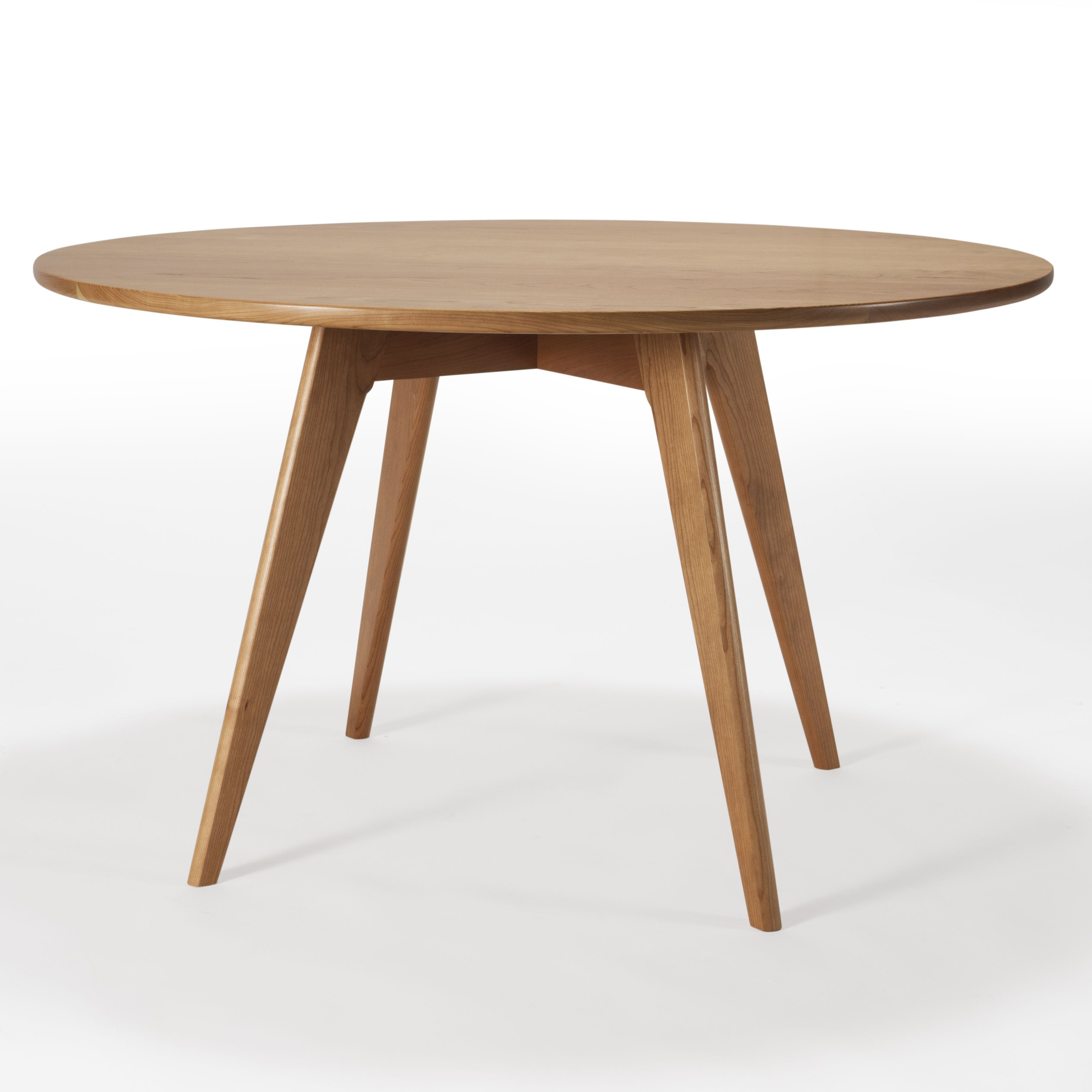Custom Made Round Kitchen Table Mid Century Modern Dining Table Solid Cherry Woo Round Dining Table Modern Midcentury Modern Dining Table Round Kitchen Table