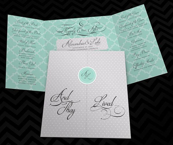 Gate Fold Wedding Program - 5 Inspiring Ideas for Unique Wedding