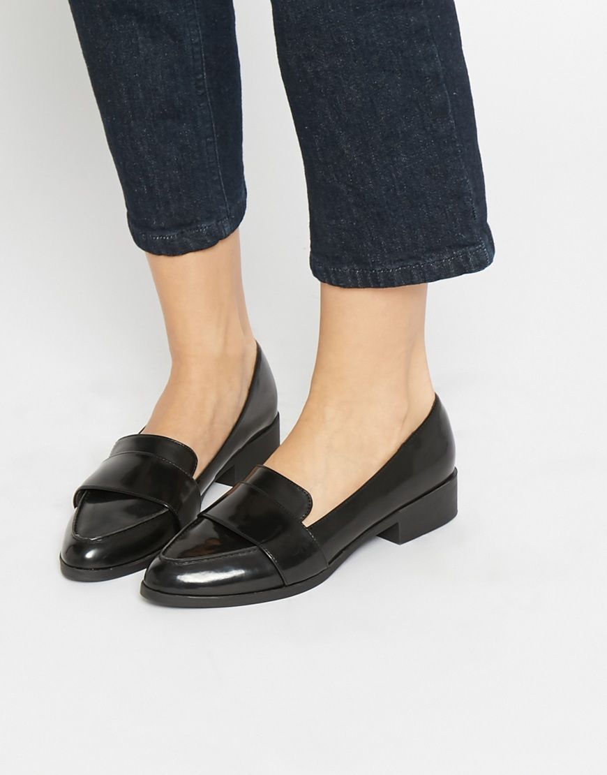 New Look Pointed Workwear Loafers Black Women Shoesnew look flat black shoesnew look salereputable site