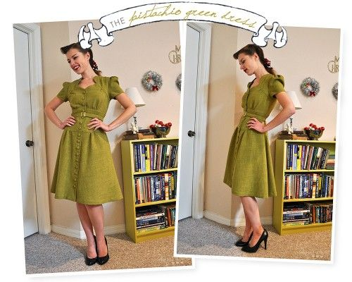 This woman has AMAZING 40s style retro clothing. Wonder if I could pull off a 40s look ?