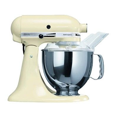 Astounding Buy Kitchenaid Stand Mixer Ksm150 Almond Cream Free Home Remodeling Inspirations Cosmcuboardxyz