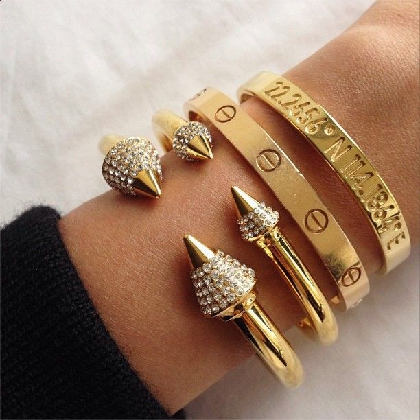 gold stacks cartier coordinates bracelet jewels jewelry fashion gold accessories