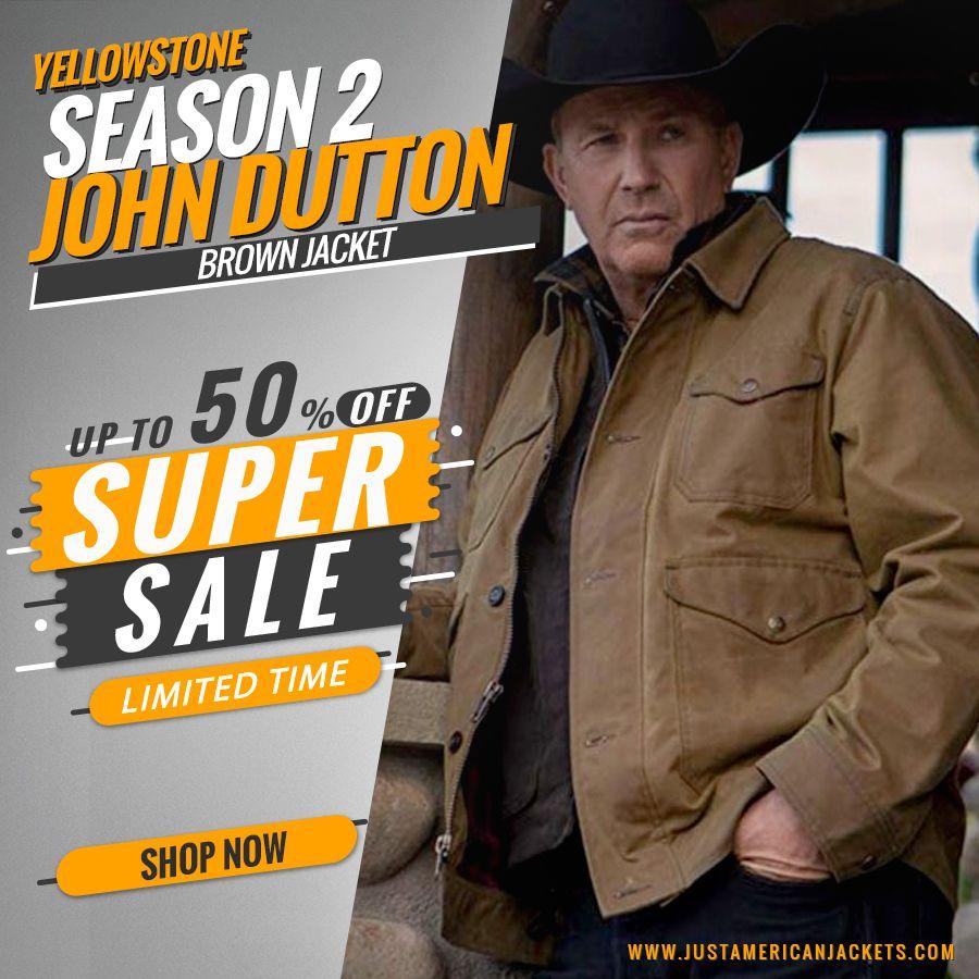 Yellowstone Season 2 John Dutton Brown Jacket Just American Jackets Brown Jacket Yellowstone Dutton Brown [ 900 x 900 Pixel ]
