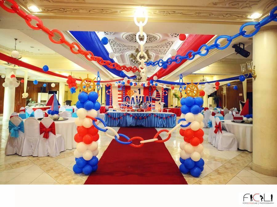 Huge Nautical Theme Birthday Party