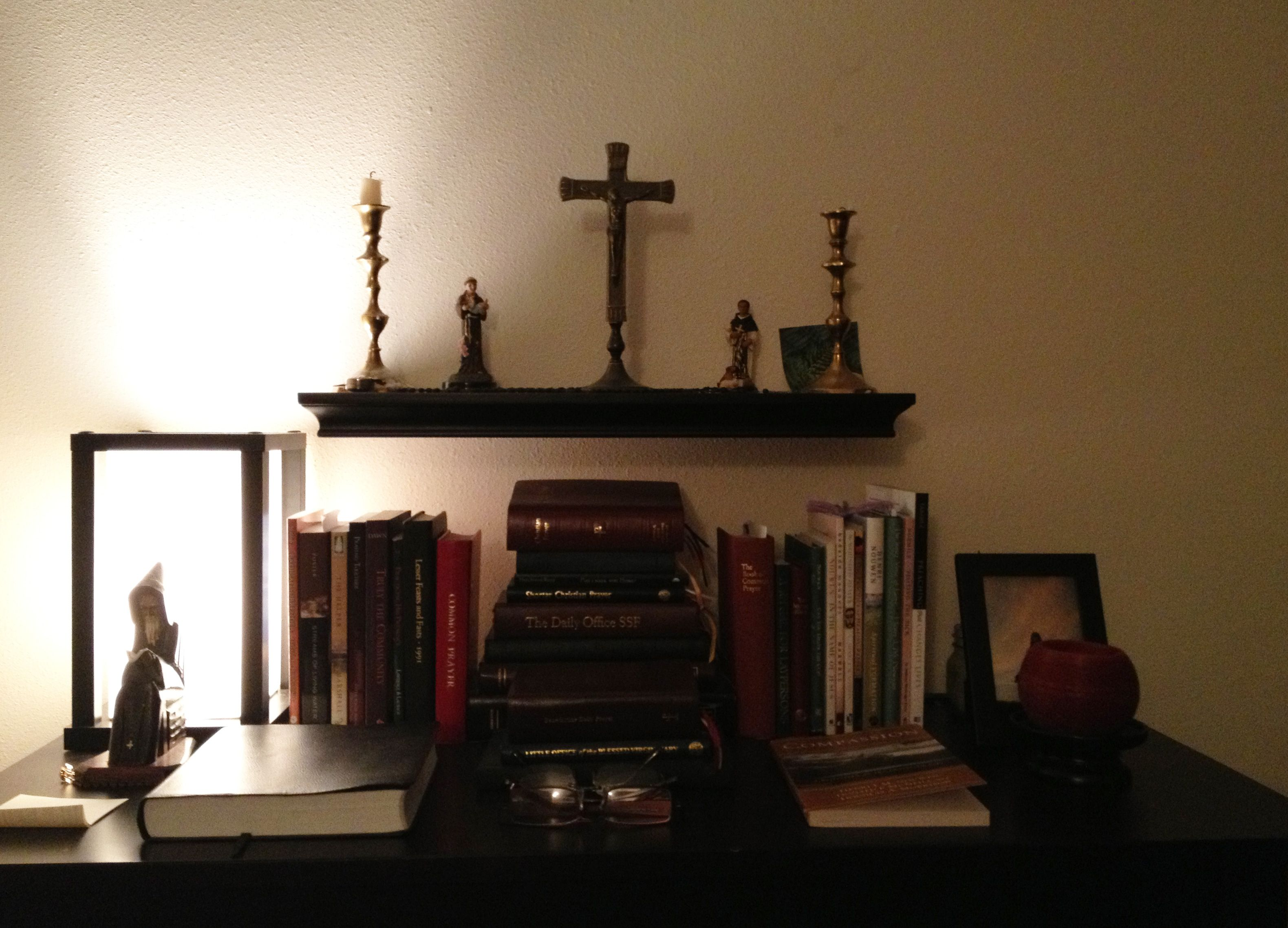 Divine Office Books, Candles, Statues Of Saints,
