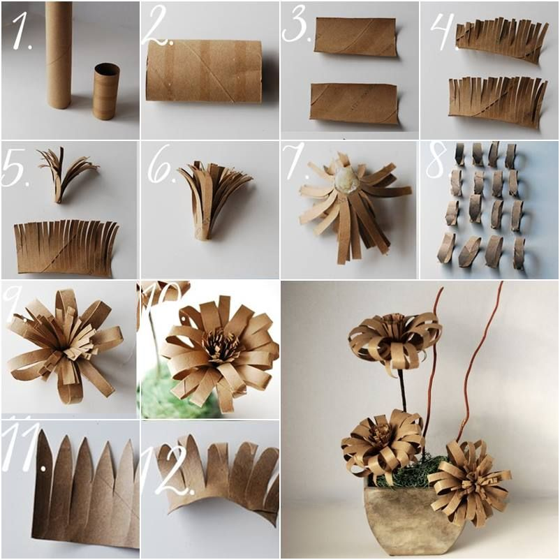Diy Toilet Paper Roll Flowers Toilet Paper Crafts Toilet
