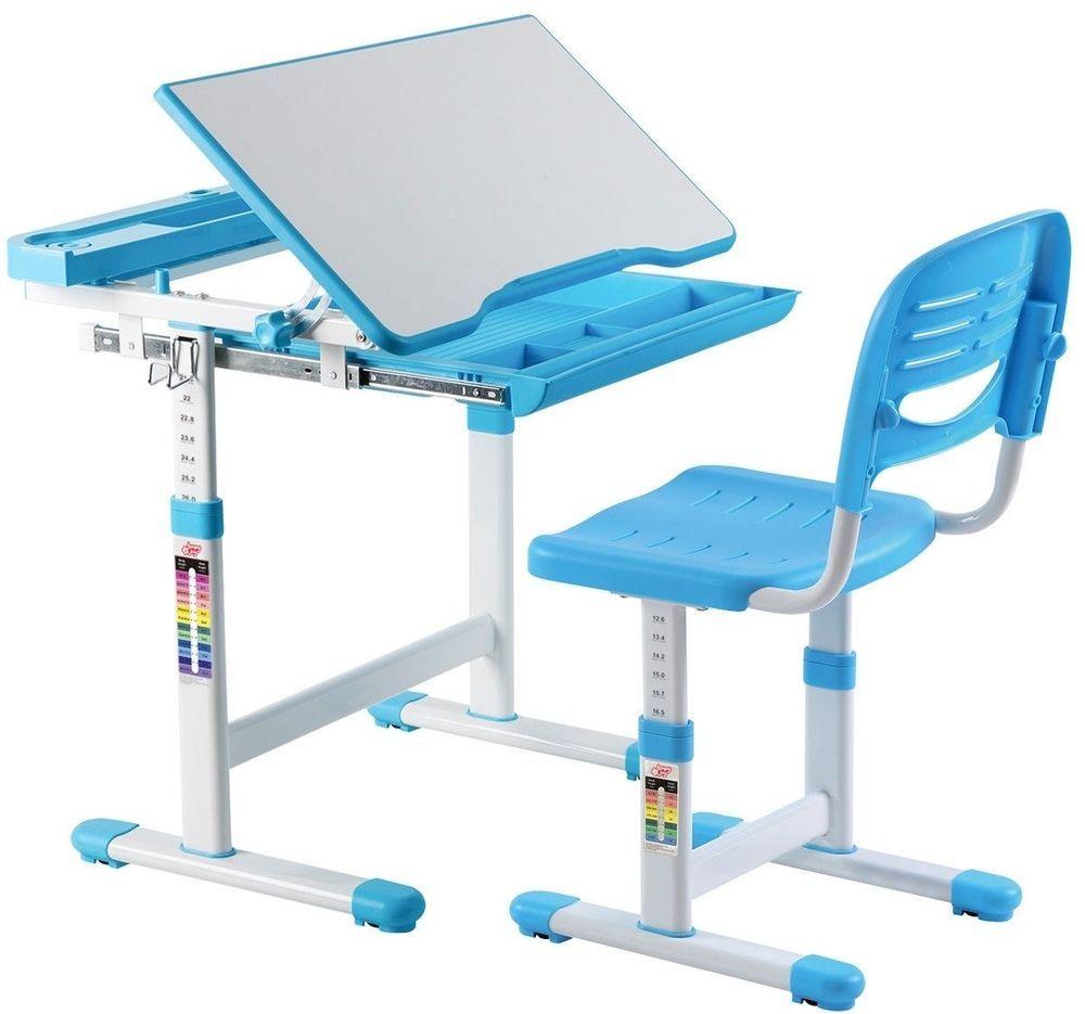 Desk And Chair Set For Boys Children Kids Adjustable Work Station