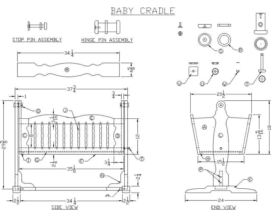 Baby Cradle Woodworking Plans Wood Crafts Pinterest