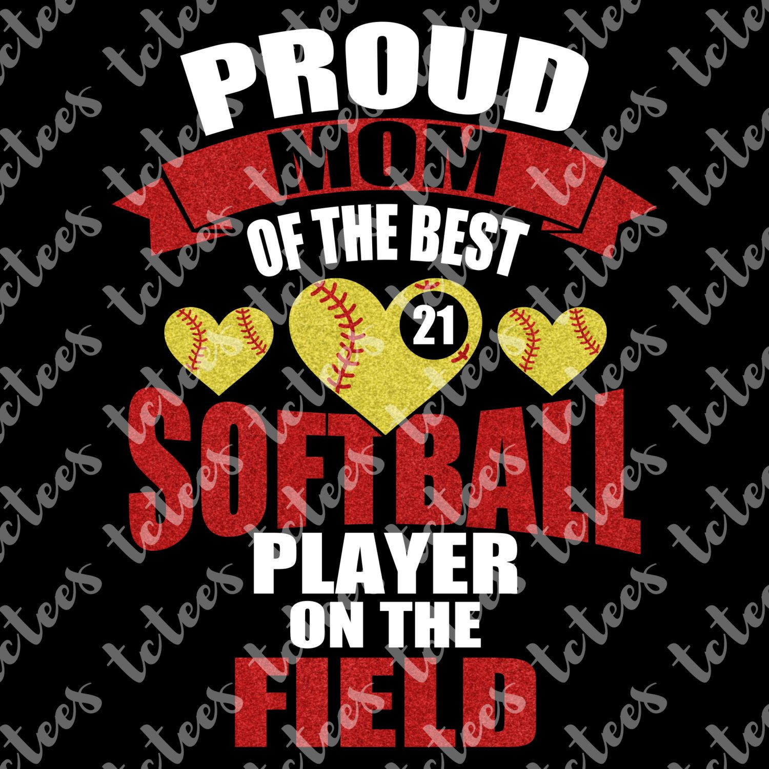 Proud Softball Mom SVG File by TCTeeDesigns on Etsy