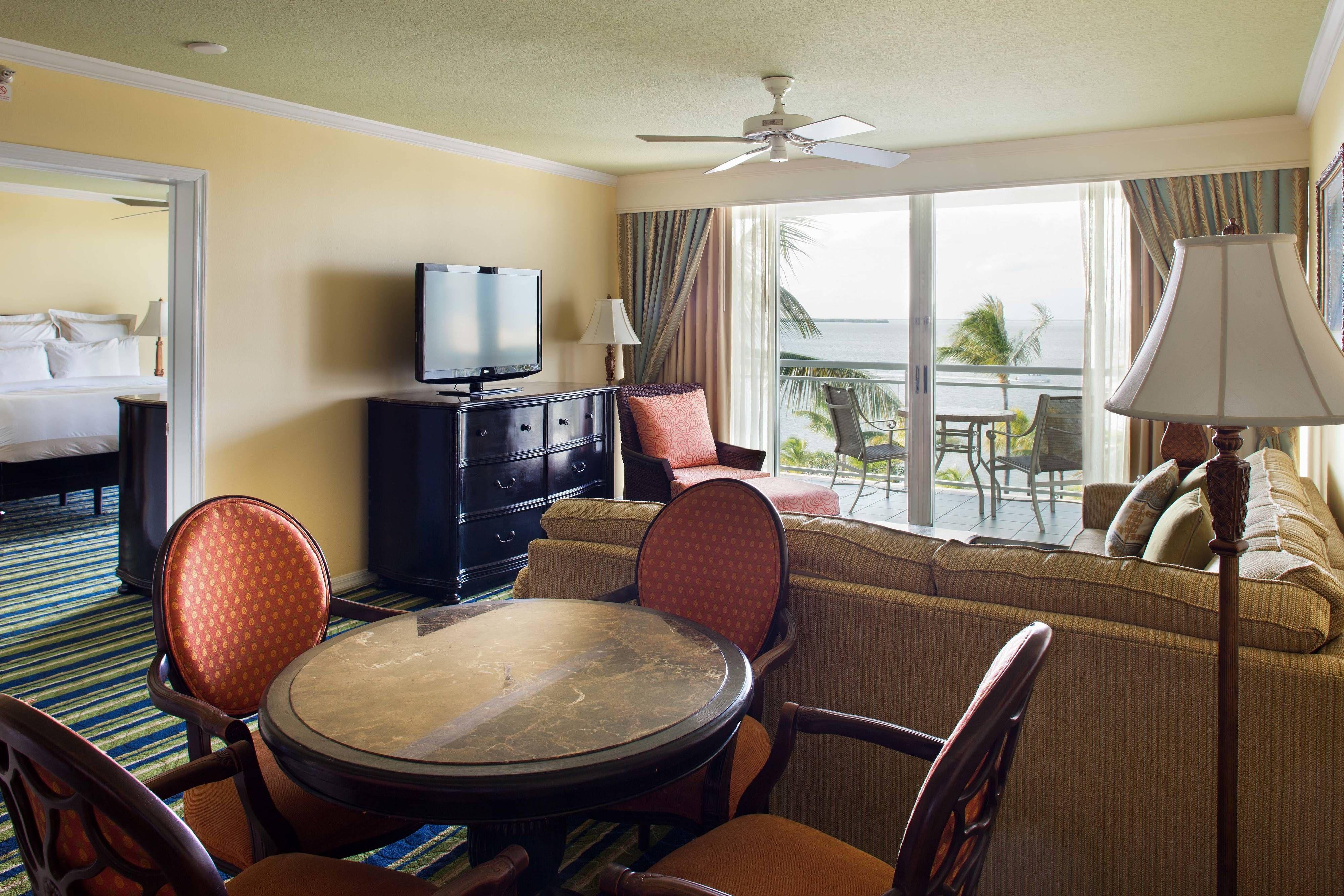 Key Largo Bay Marriott Beach Resort Two Bedroom Suite Living Room Guestroom Holiday Relax Key Largo Marriott Two Bedroom Suites Key Largo Fl