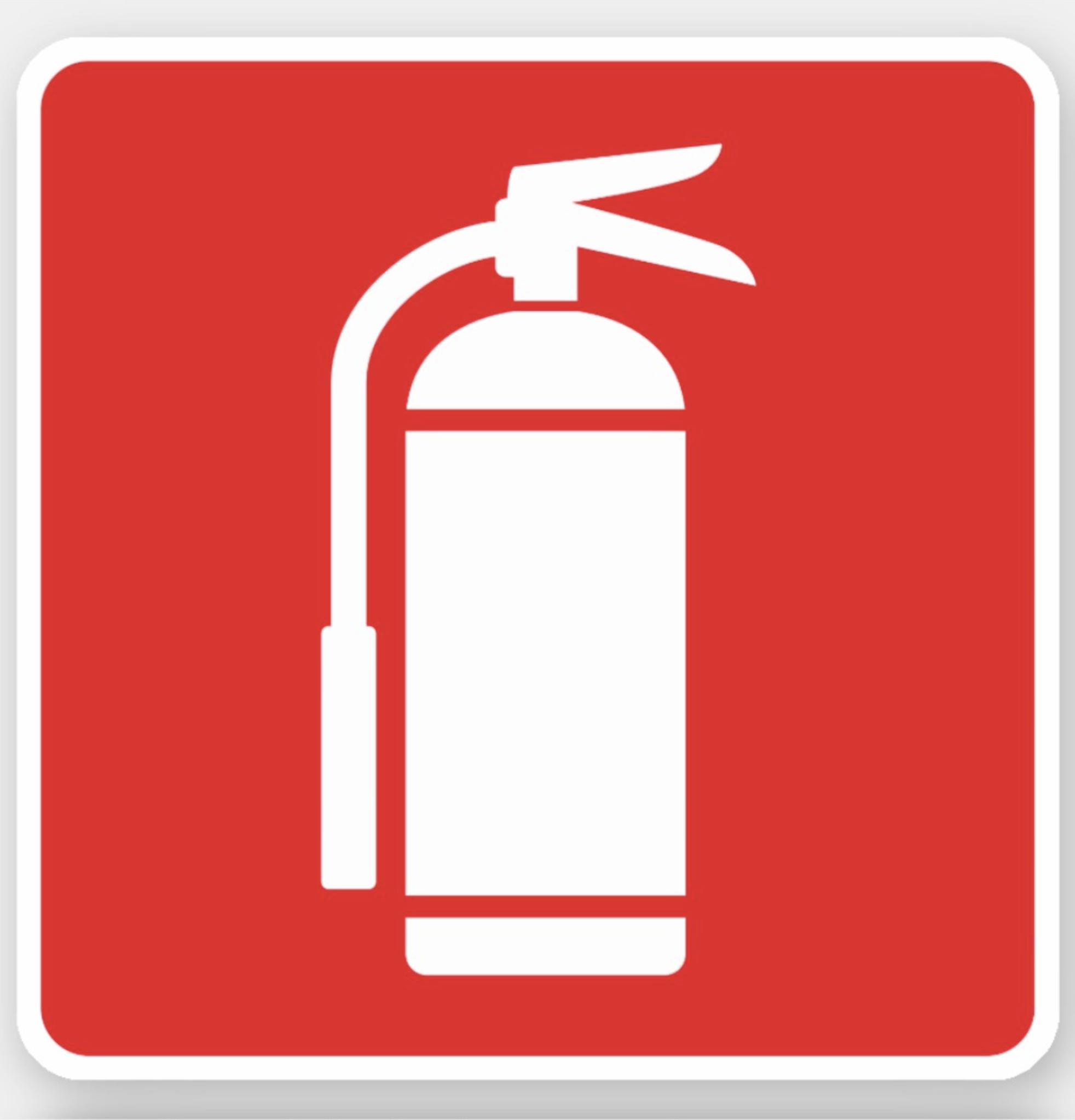 Fire Extinguisher Symbol White On Red Sticker Zazzle Com In 2021 Extinguisher Fire Extinguisher Symbols