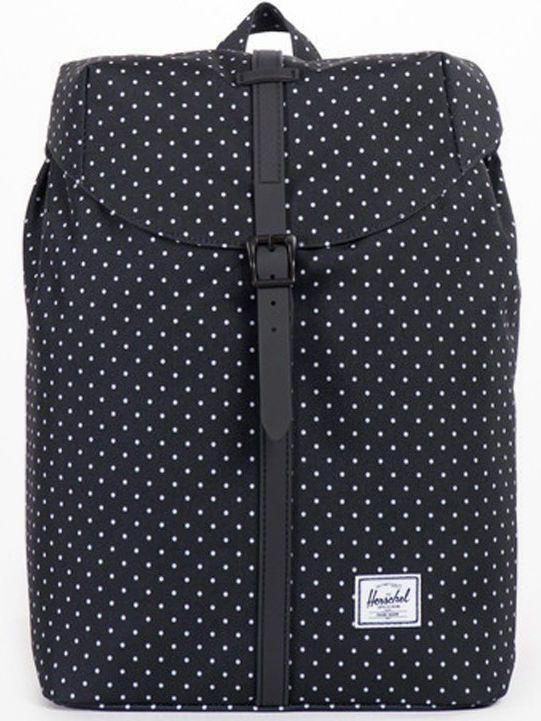 8a21cfb70f8 Herschel Post Backpack Mid Volume Black White Polka DotHerschel Post  Backpack Mid Volume Black White Polka Dot