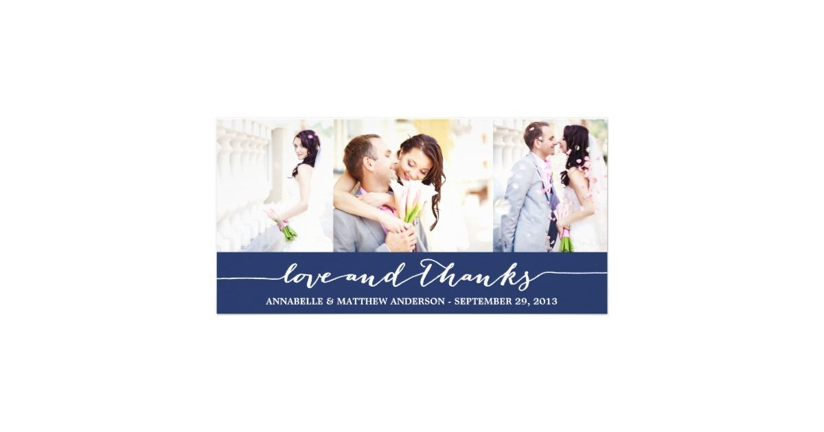 CALLIGRAPHY COLLAGE – Zazzle Wedding Thank You Cards