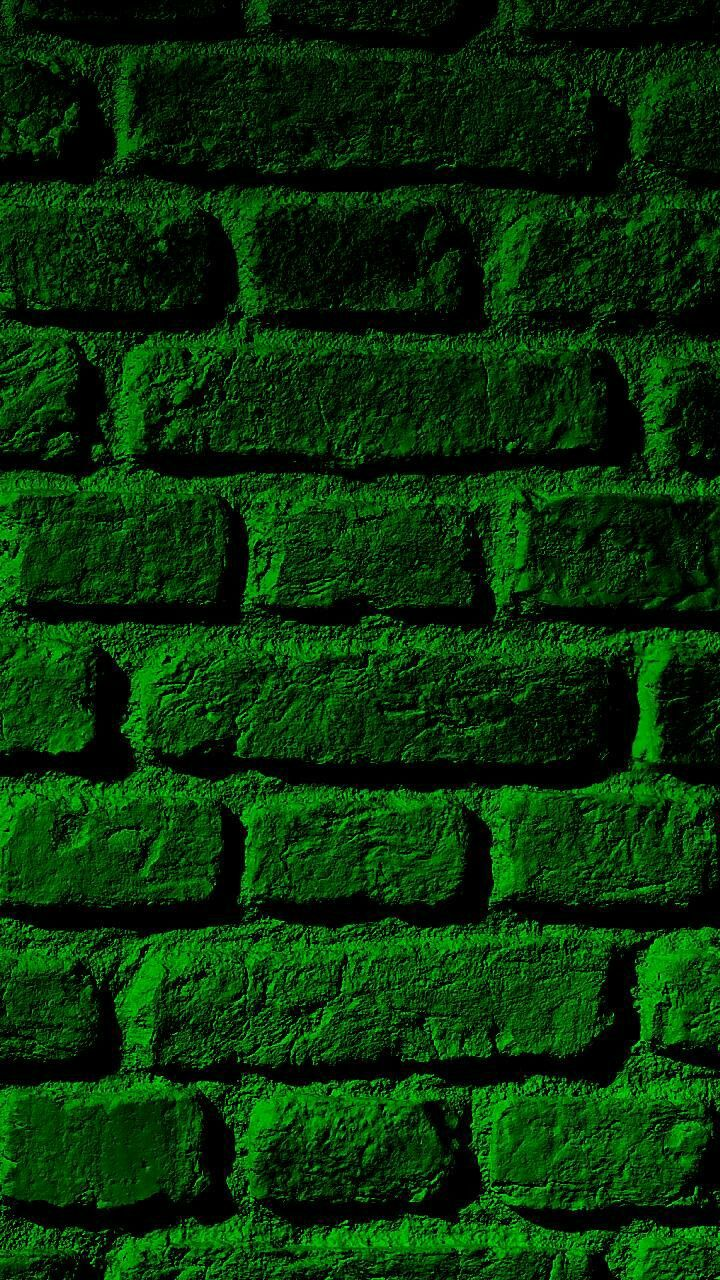 Green Brick Wall Green Wallpaper Brick Wallpaper Brick Background