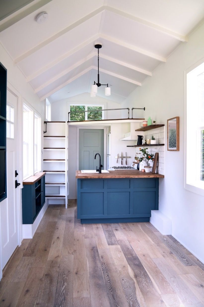 28ft Seabrook Tiny House with Downstairs Murphy Bed #tinyhousebathroom
