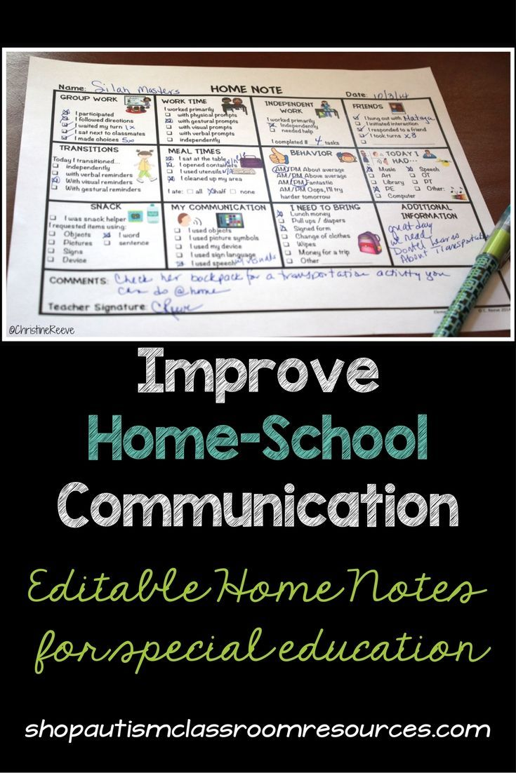 Special education teachers need effective but quick and easy ways to communicate with families. These editable home notes give lots of options for two-way communication. There are versions for preschool, elementary, and secondary students in special education.