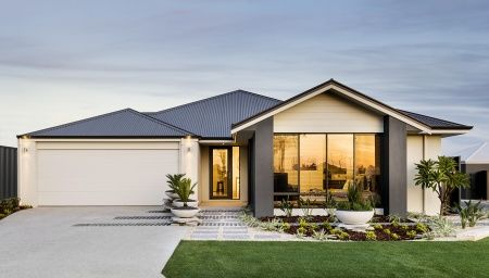 Striking Elevation With Feature Gable Planking Rendered