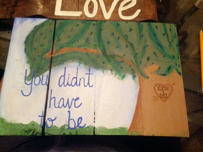 You didn't have to be pallet sign (hoc made 7-14)