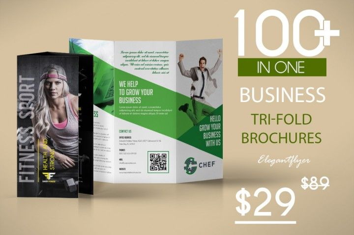 100+ Awesome Business Tri-fold Brochures for Photoshop Design