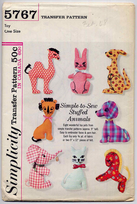 Stuffed Animal Patterns Simplicity Best Decoration