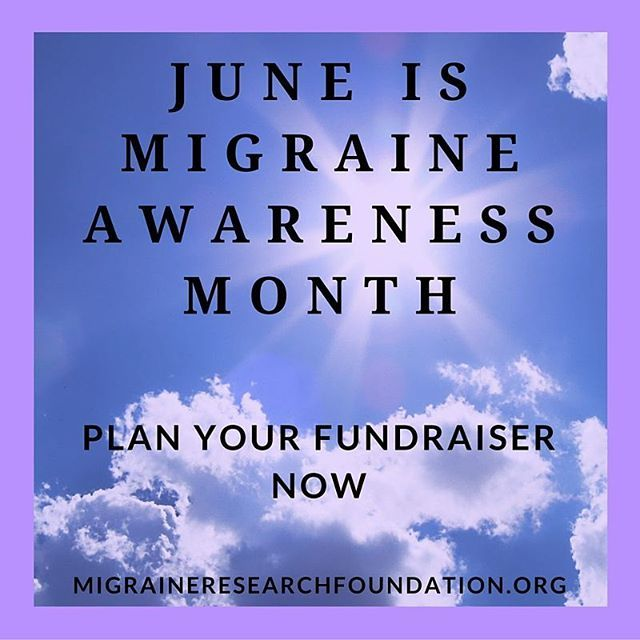 Do your part during Migraine Awareness Month this June and fundraise for MRF. Link in our bio for ideas to help you plan!