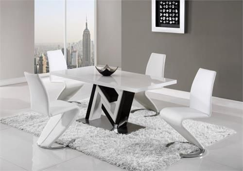 5 Pc Dining Table Set White Global Furniture Usa D4163 Global