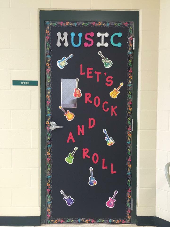 Elementary Music Classroom Door Rock N Roll Elementary Music