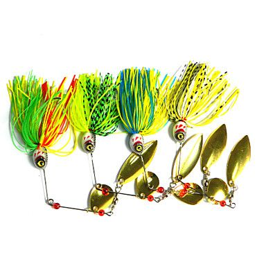 4 pcs Hengjia Metal Spinner Baits 20.5g  Floating Fishing Lures - USD $ 7.99