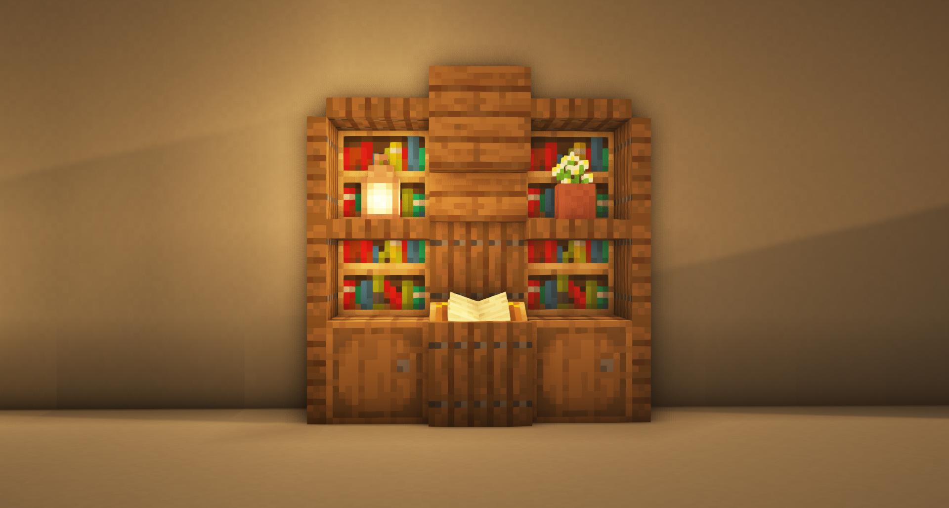 TUTORIAL Minecraft Furniture Book Shelf