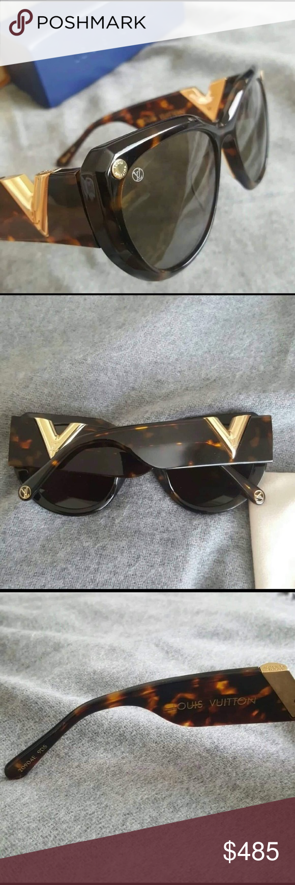 "3635c99799bc4 Authentic Louis Vuitton My Fair Lady Sunglases Stunning pair of Louis  Vuitton "" My Fair Lady"" Sunglasses. The frames are a glossy Translucent  Tortoise with ..."