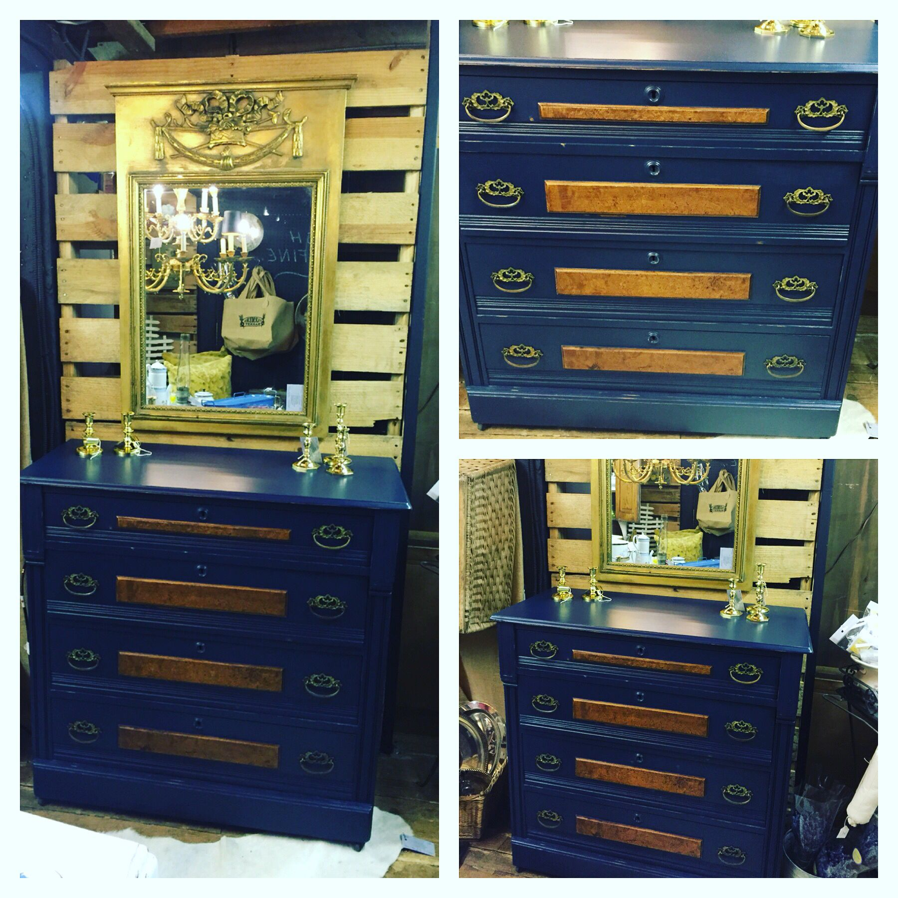Antique Oak Dresser painted in Faux Real Mineral Paint custom mix