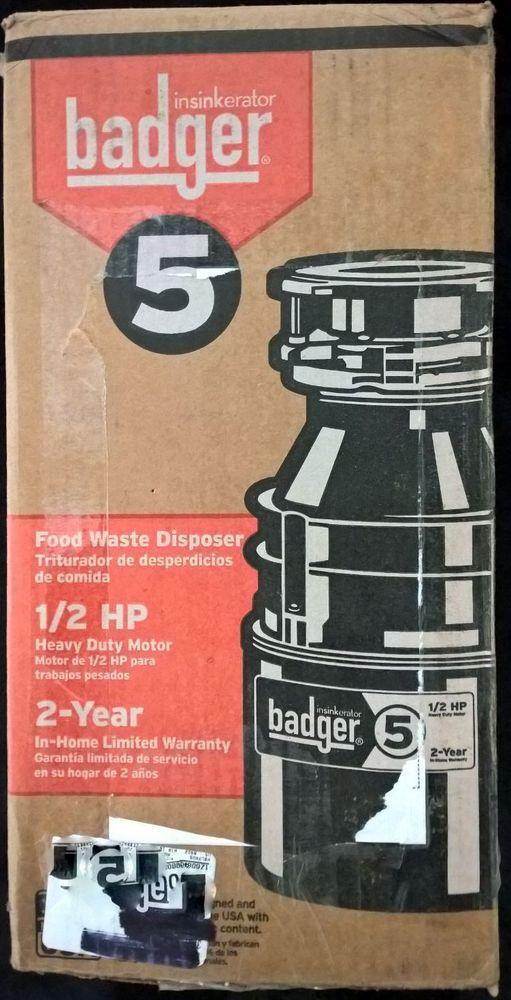Insinkerator Badger 5 1 2 Hp Food Waste Disposer Insinkerator