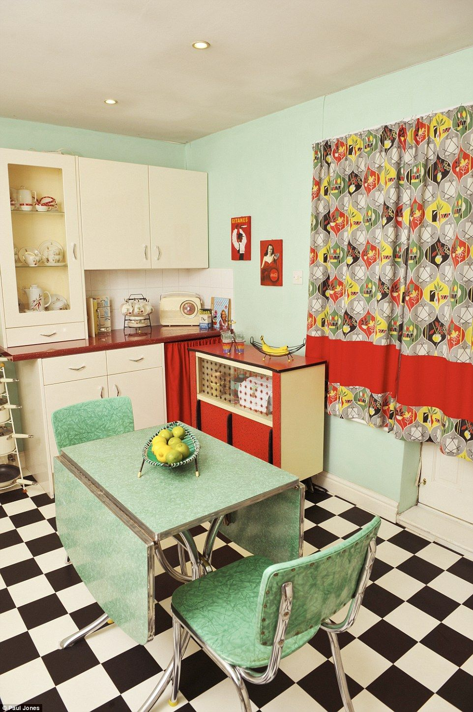 1950s house interior. She Said  I Do Have Modern Things Mixed In But Only When They A Retro 50s Look For Example Our Microwave Her Radio Is Also Blast From The Past Women Who Turned Their Homes Into Shrines To Favourite Decade