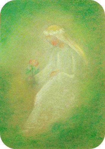 Roland Tiller Geburt Kunst Aquarellbilder Blumenbilder