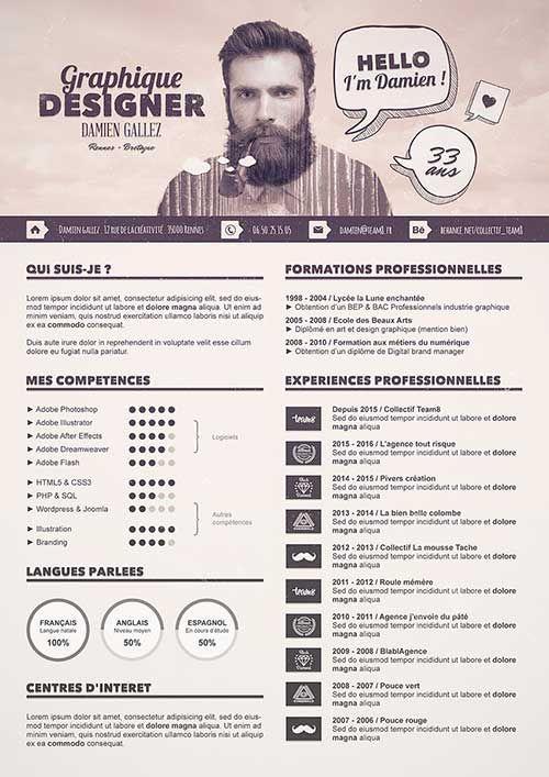 45 Ejemplos de Currículums Creativos que te Inspirarán   formas de ...
