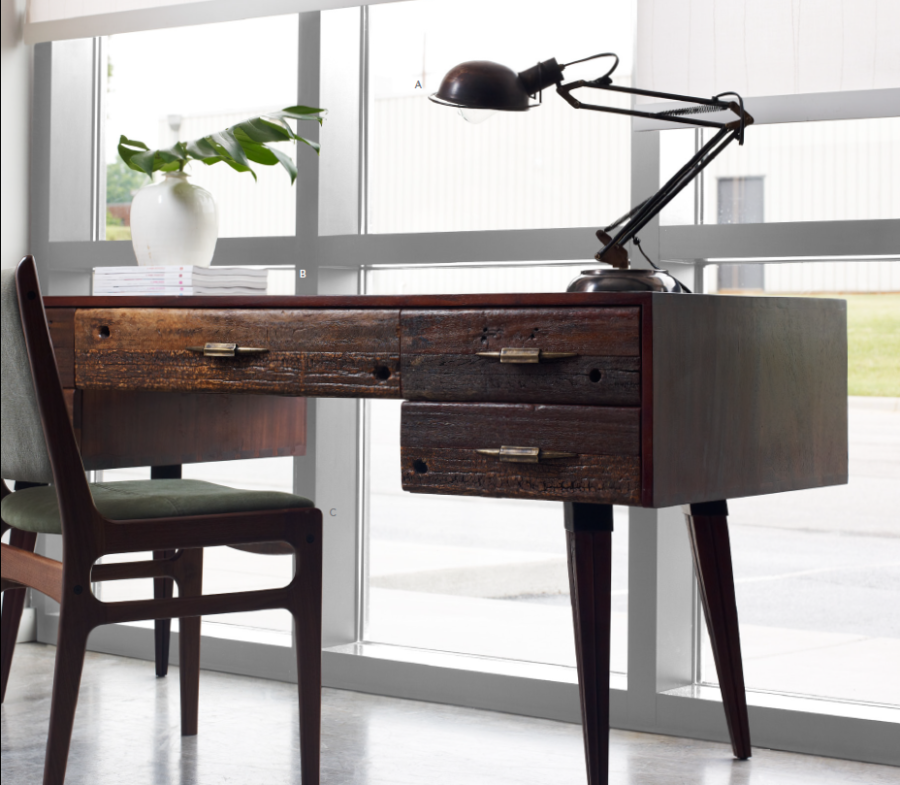 Charming Make Your Office More Eco Friendly With A Reclaimed Wood Desk Awesome Ideas
