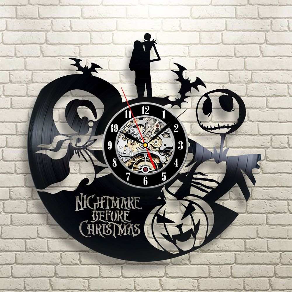 The Nightmare Before Christmas Gift Vinyl Record Wall Clock Home ...