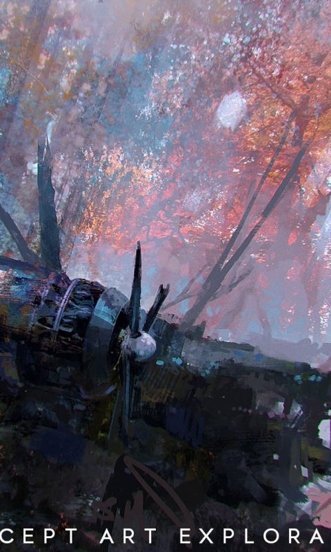 Wreck aircraft battlefield 5 concept art 480x800 - Battlefield v concept art wallpaper ...