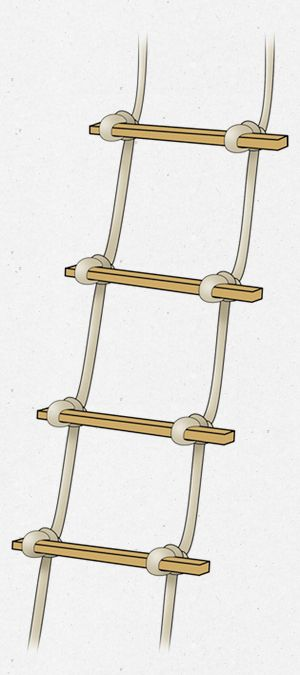 How To Make A Rope Ladder Rope Ladder Diy Ladder Survival