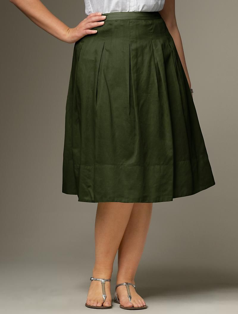 Voile Pleated Skirt