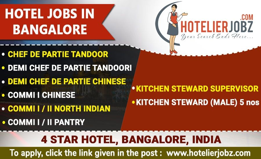 Hotel Jobs In Bangalore 4 Star Hotel An Upcoming Hotel In