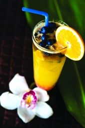 "Hukilau Sports Bar & Grill's ""Mango'd Mai Tai Blues"" from ""The New-Wave Mai Tai"" by Cheryl Chee Tsutsumi. Photo by David Croxford."