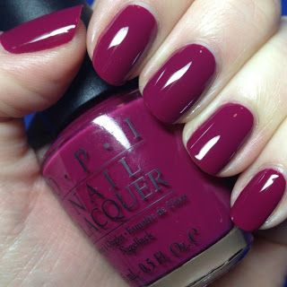 Opi Royal Rajah Ruby Deep Burgundy Red Shimmer Wearing Right Now