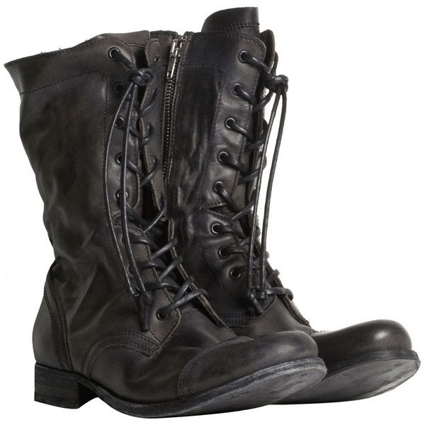 Military Boot (€265) ❤ liked on Polyvore featuring shoes
