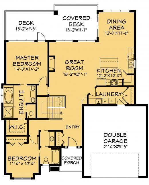 Bergamo Bungalow Plan Front View Like The Guest Bathroom Plan E1076 10 Dream House Plans Best House Plans House Plans