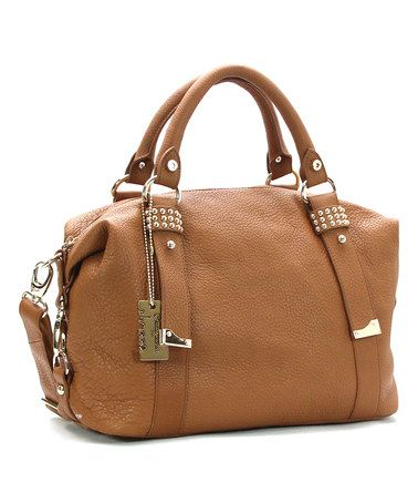 Look what I found on #zulily! Saddle Tan Amour Rouge Leather Tote #zulilyfinds