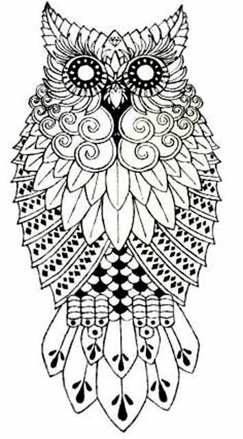 Витраж сова (Owl); pattern for aluminium crafting. | Templates ...