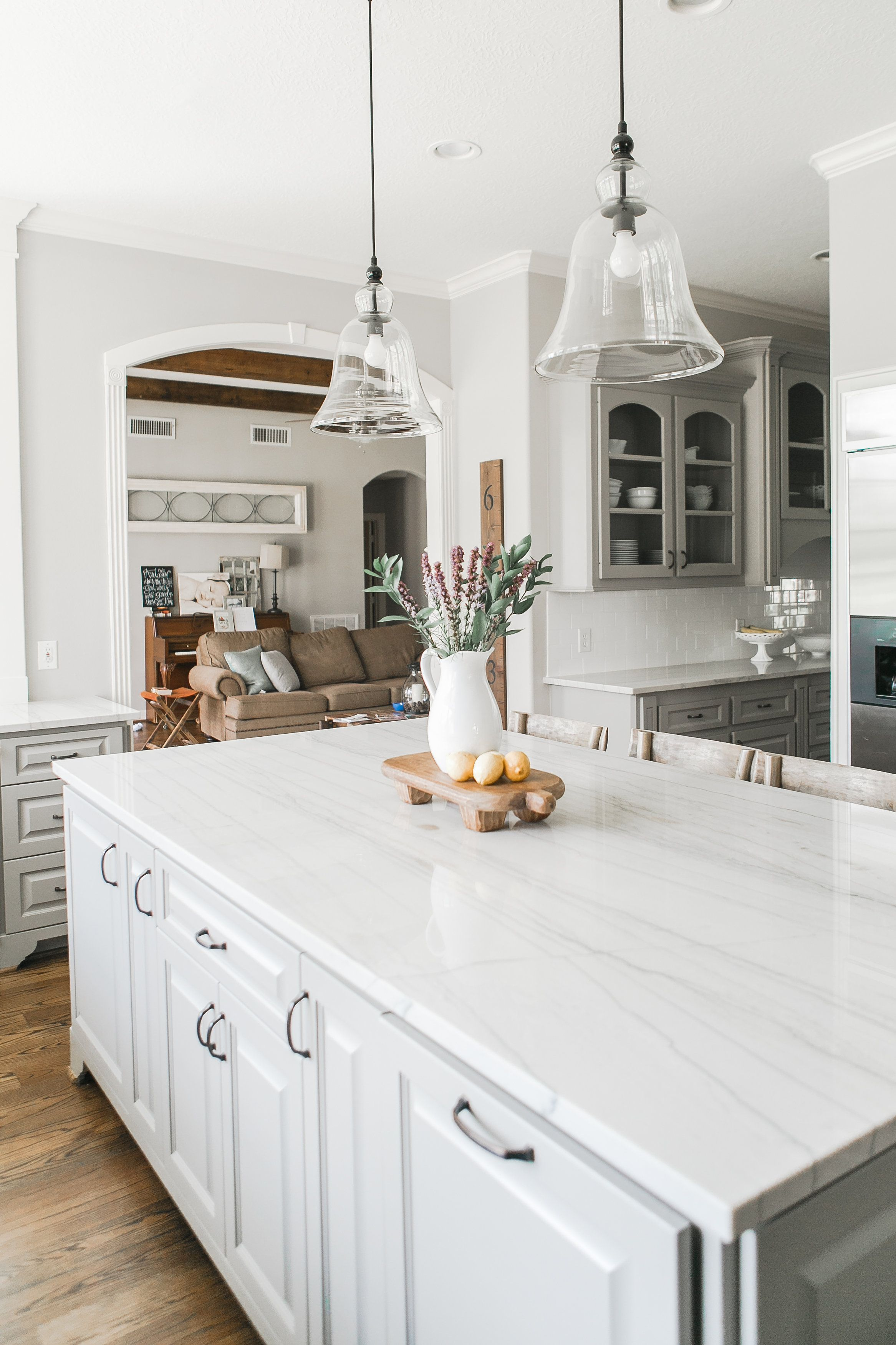Farmhouse Kitchen | Traditional Kitchen | Gray & White Kitchen ...
