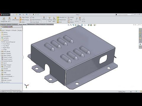 Solidworks Tutorial For Beginners Learn How To Design A Part 07 Youtube Solidworks Solidworks Tutorial Sheet Metal